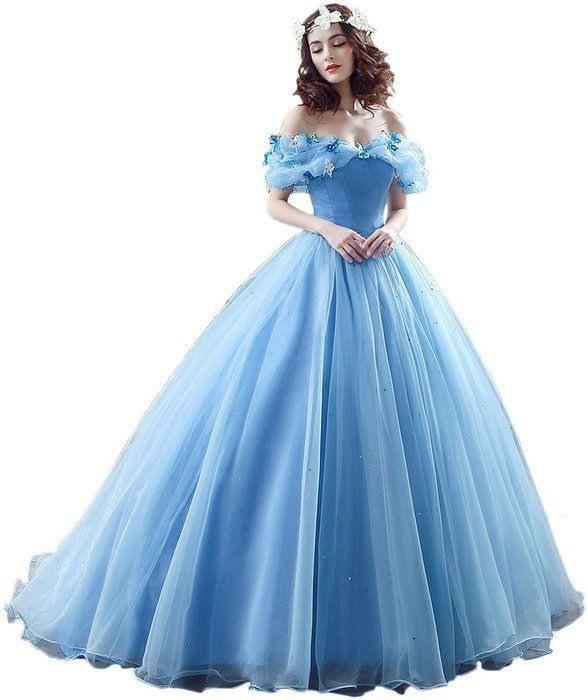 Victory Bridal Wunderschoen Blaues Kurzarm Abendleider