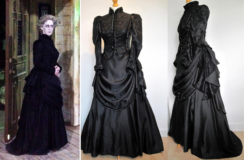 Viktorianischen Beerdigung Kleid Kostüm Madame Vastra Frau