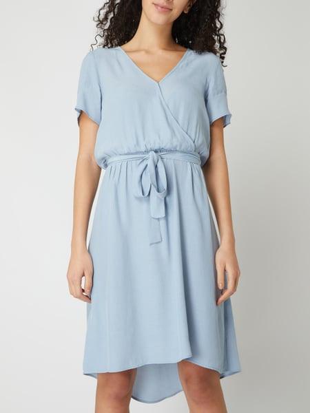 Vila Kleid Mit Taillengürtel Modell 'Primera' In Blau