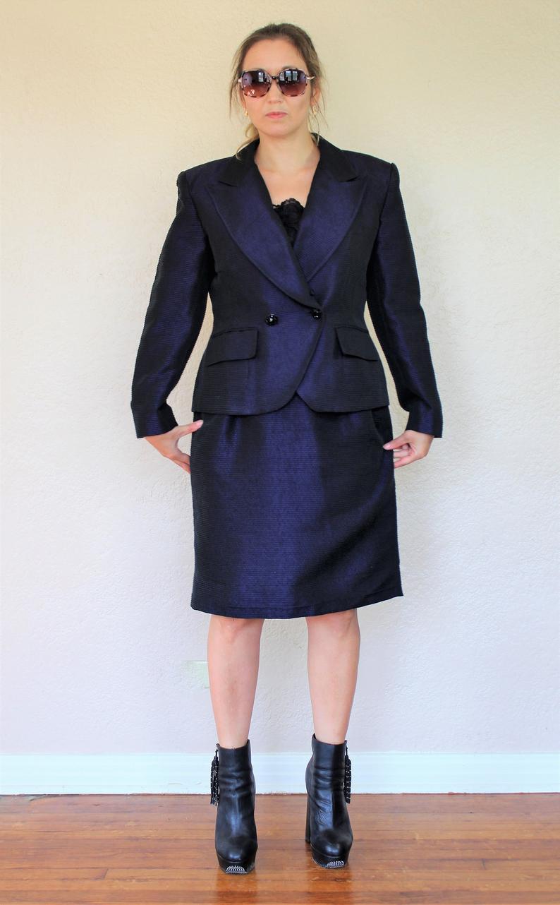 Vintage 1980Er Jahre Christian Dior Kleid Anzug 14 Frauen
