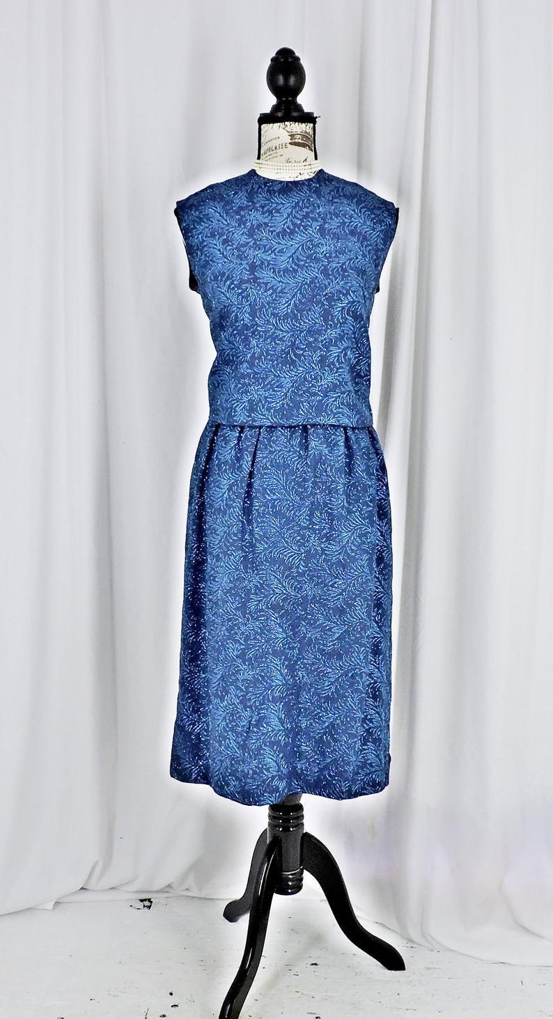 Vintage 60Er Jahre Seide Kleid Größe 6 7 / 1960Er Jahre