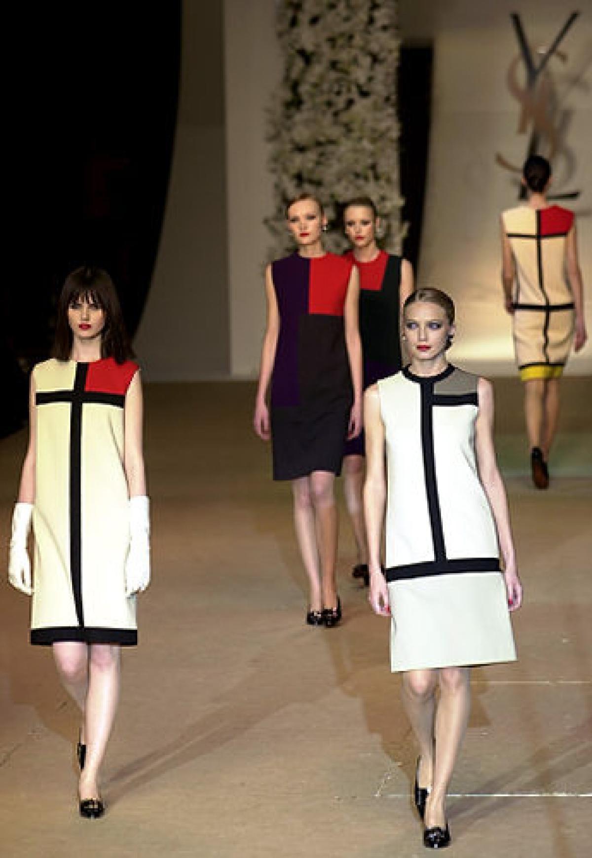 Vintage 60S Yves Saint Laurent Mondrian Dressthis Is In