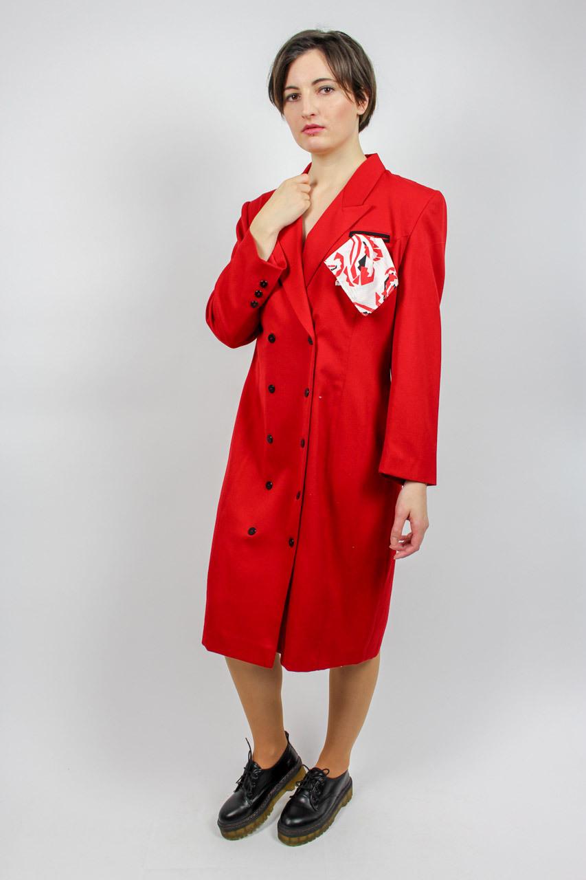 """Vintage Blusenkleid Rot """"Inka""""  Oma Klara"""