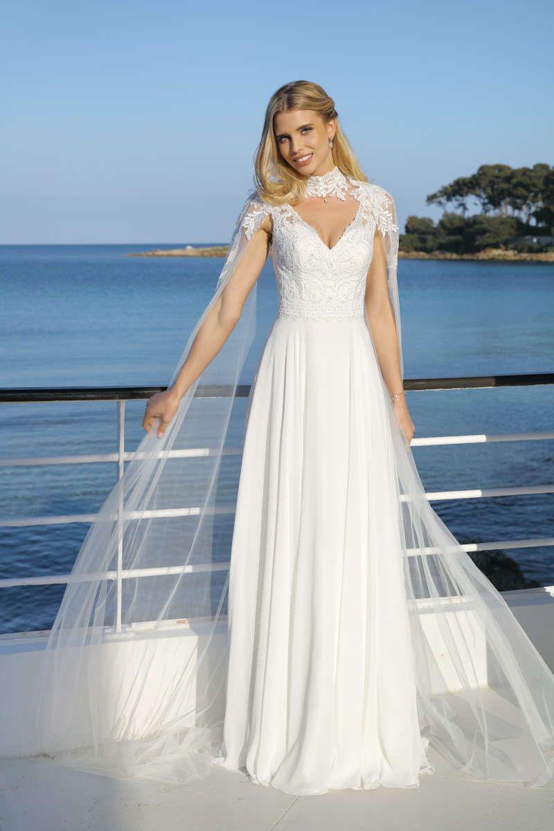 Vintage Goes Boho  Kleid Hochzeit Schmale Brautkleider