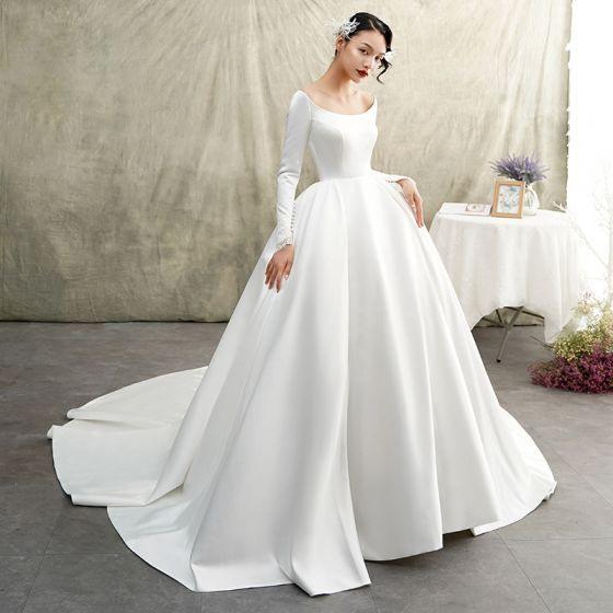 Vintage Hochzeitskleid Creme  Friseur