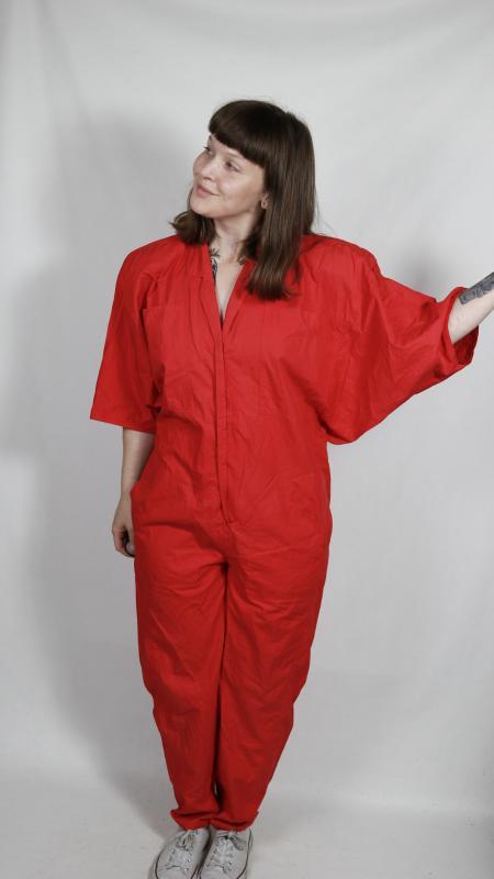 Vintage Jumpsuit/Overall Von Bogner Rot  Vintage Mode