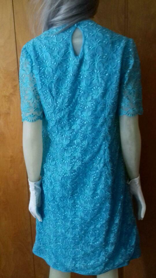 Vintage Kleid Blaue Spitze Partykleid 60Er Jahre In Berlin