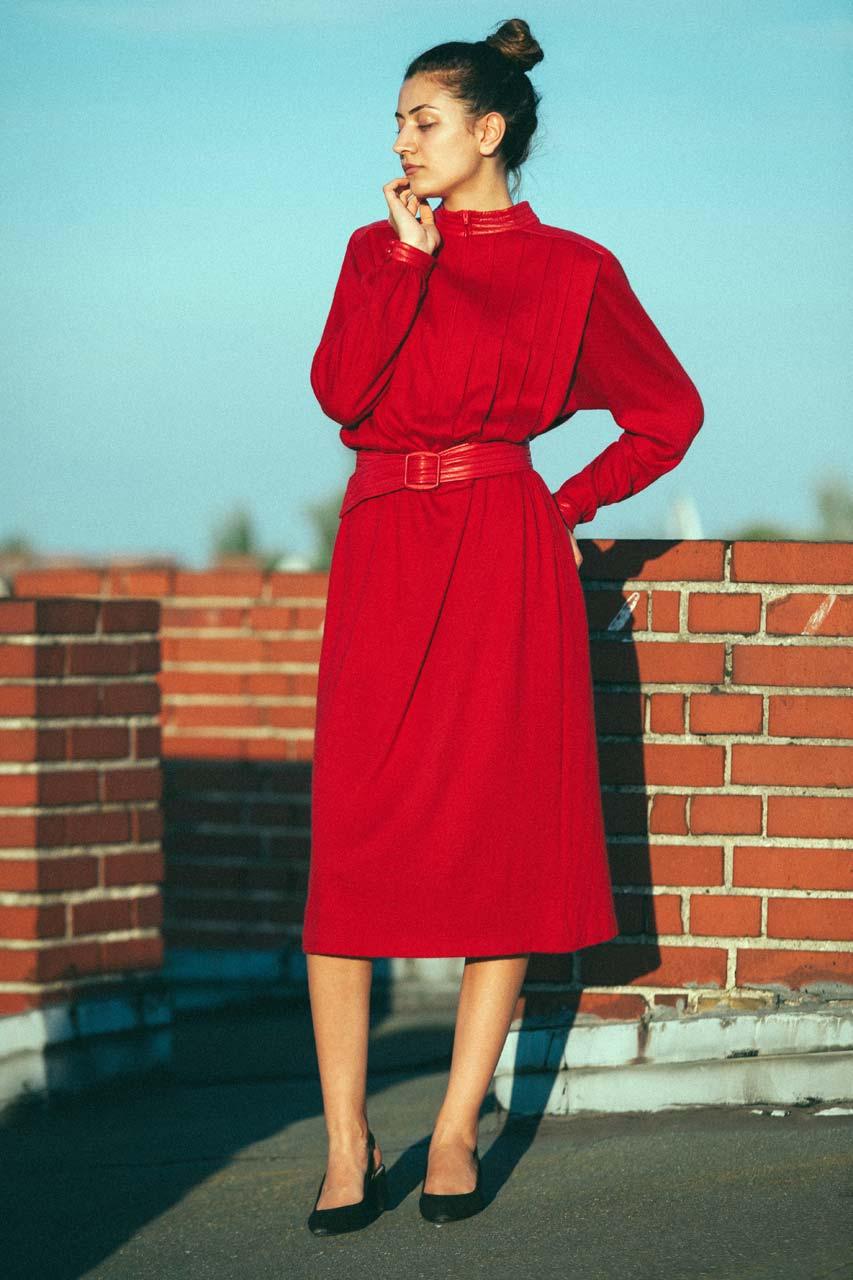 """Vintage Kleid Rot """"Marinetta""""  Oma Klara"""