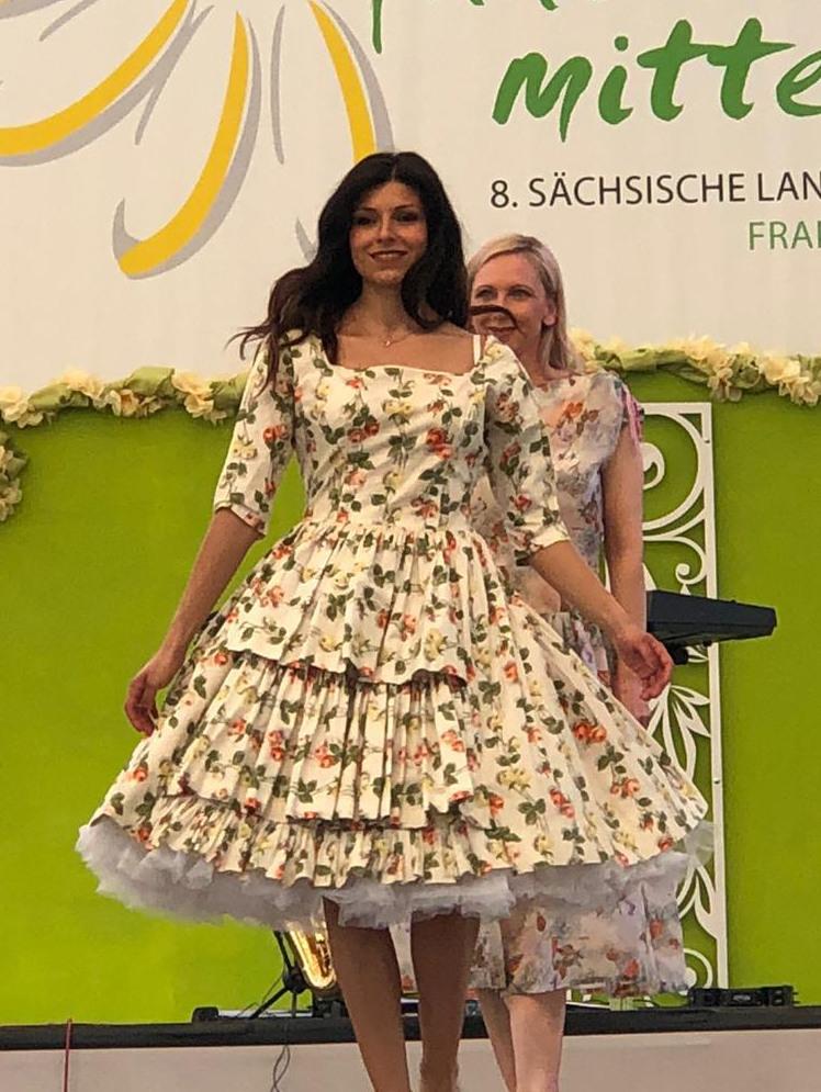Vintage Mode I Original 50Er Jahre Kleid Rose - Mode