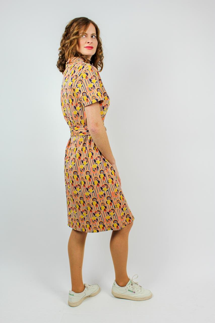 """Vintage Sommerkleid Gelb """"Hilde""""  Oma Klara"""