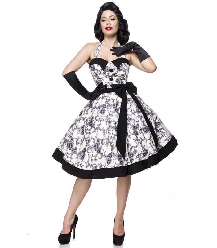 Vintage Swing Kleid Schwarz/Weiß  At50089  Fashionmoon