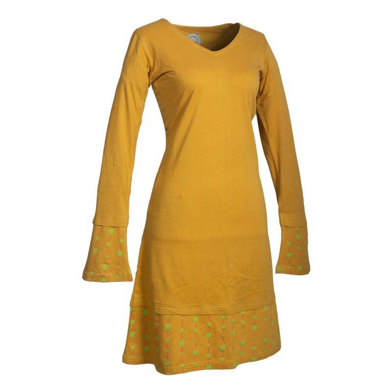 Vishes Langarm Damen Freizeit Jerseykleid Strickkleid