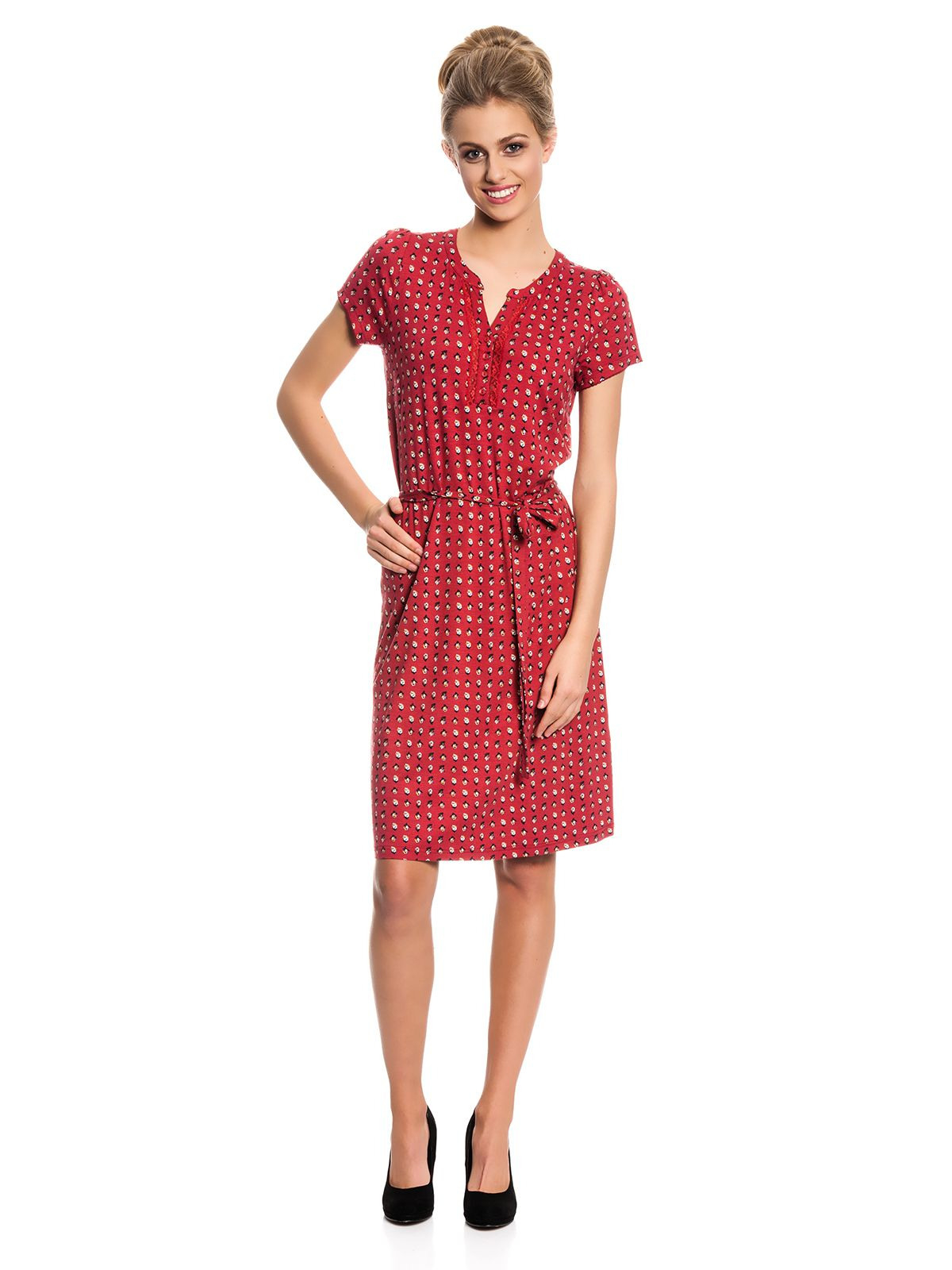 Vive Maria Fleur Rouge Dress Kleid Rot Alloverprint