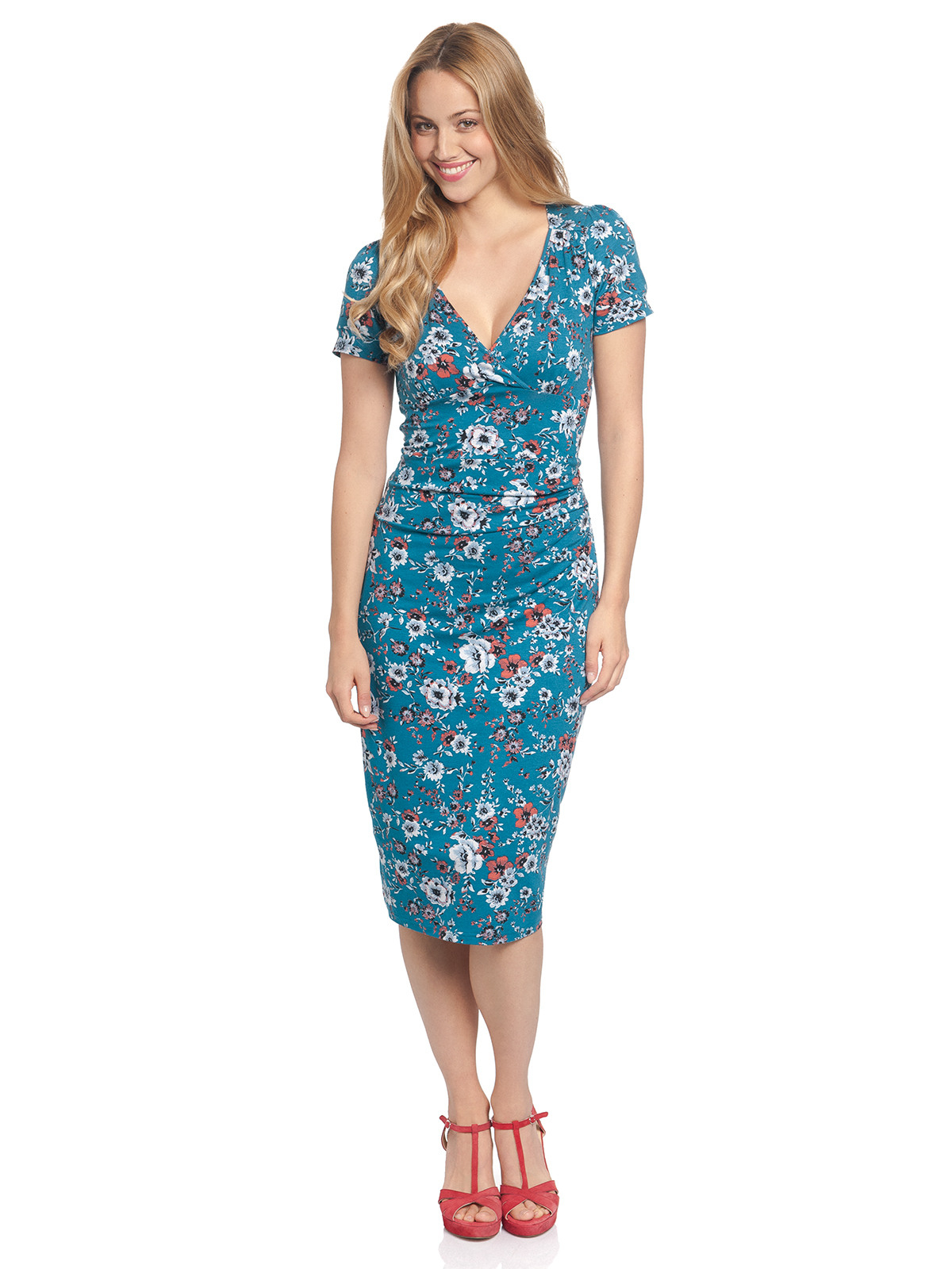 Vive Maria Flower Garden Dress Azure Allover Bekleidung