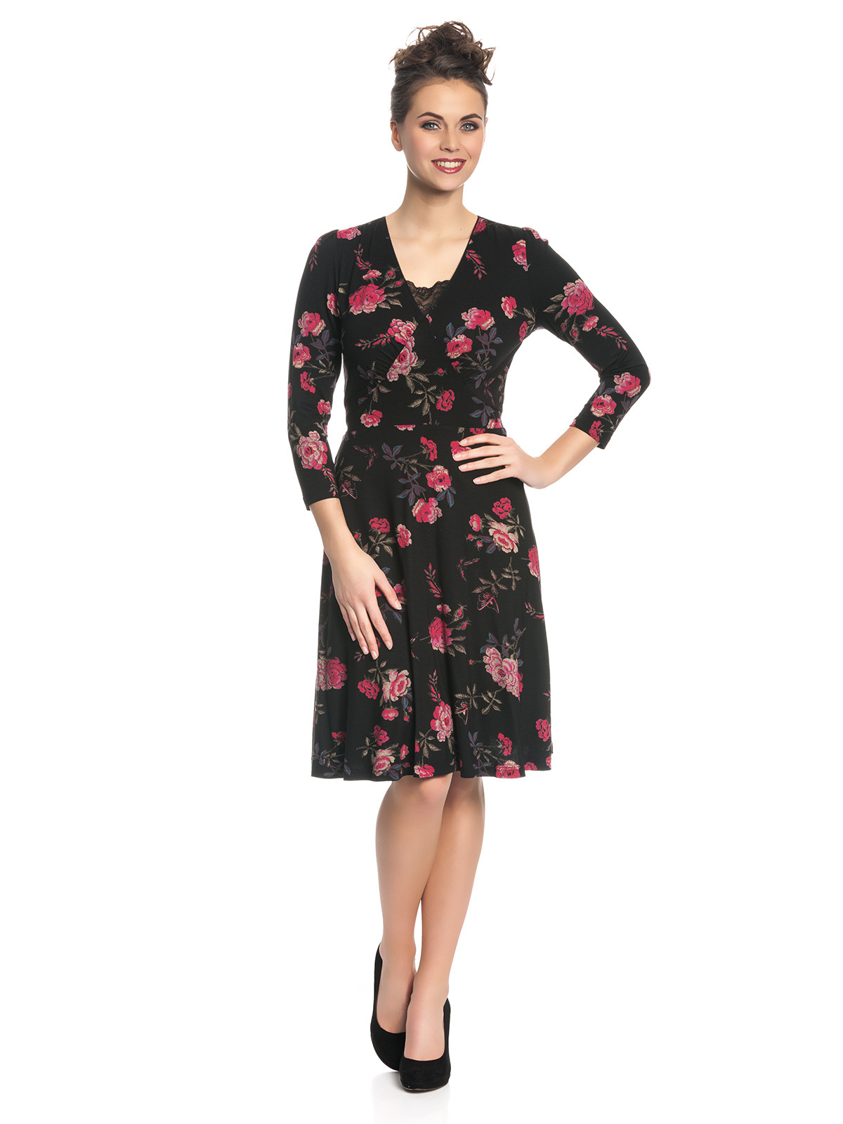 Vive Maria Victorian Girl Dress Black Allover Clothing Dresses