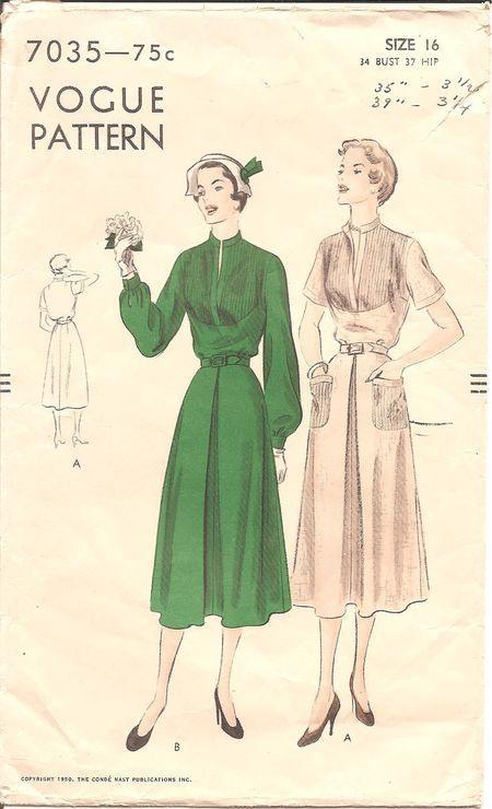 Vogue 7035  Kleiderschnitte Kleider Jacken