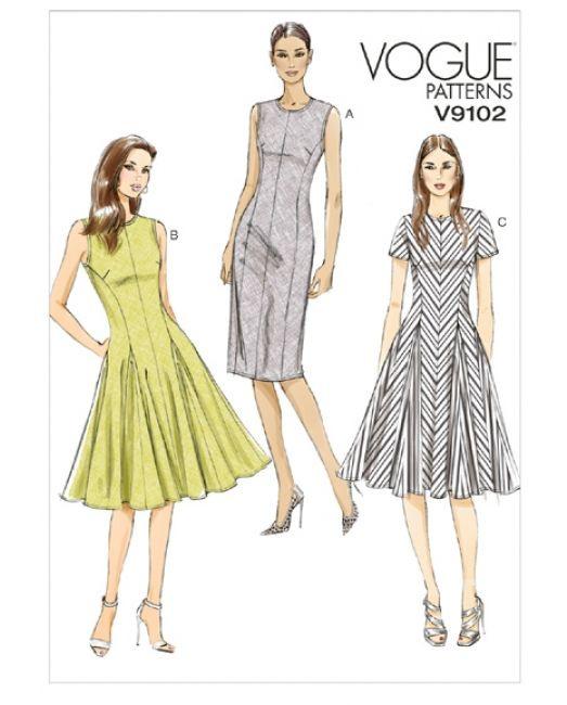 Vogue 9102Keid Mit Ärmel Und