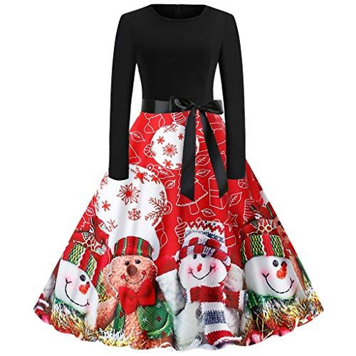 Voicry Weihnachtskleid Dame Langarmweihnachten Musical