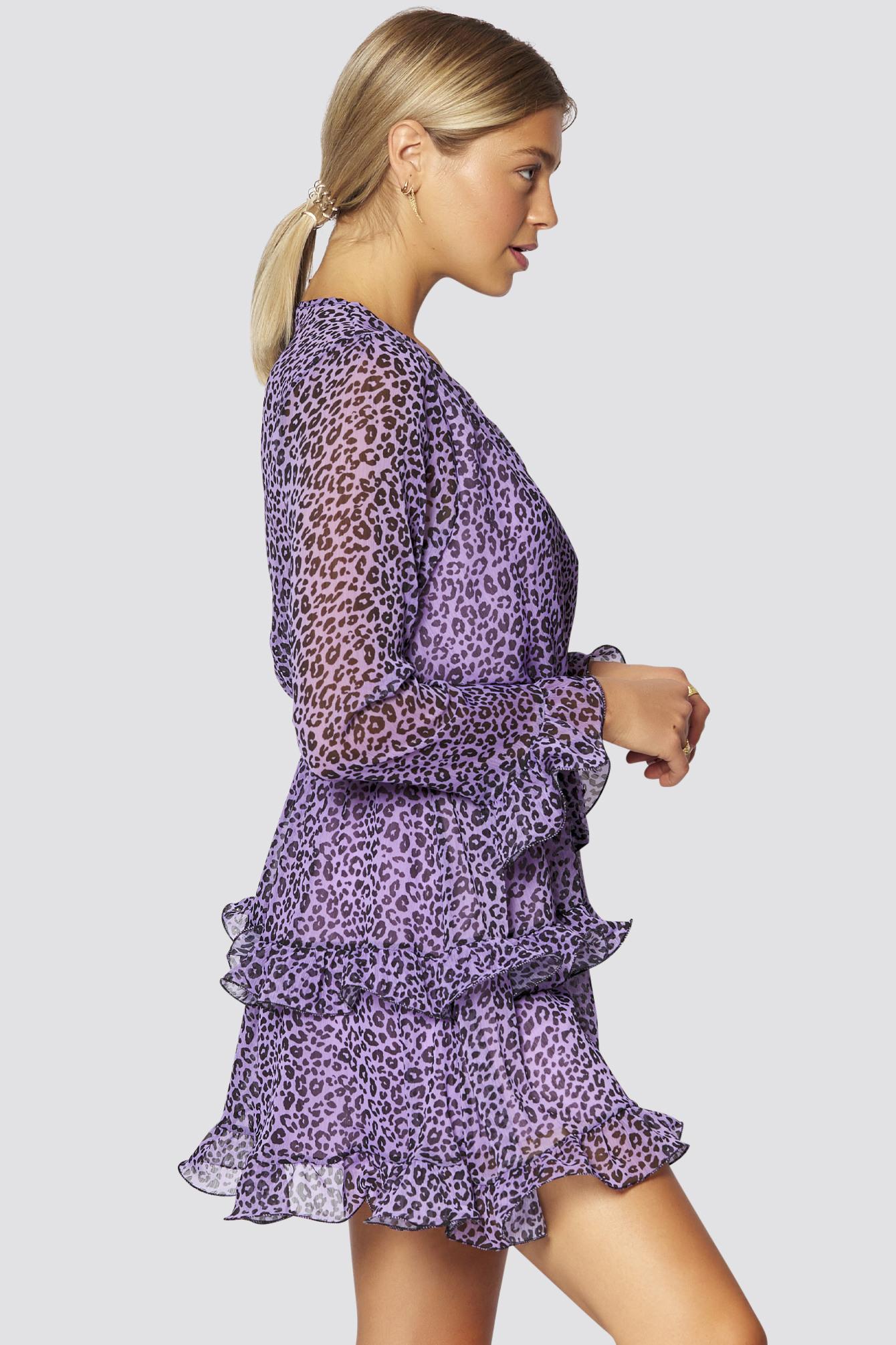 Volant Kleid Mit Bindegurt  Freshlions