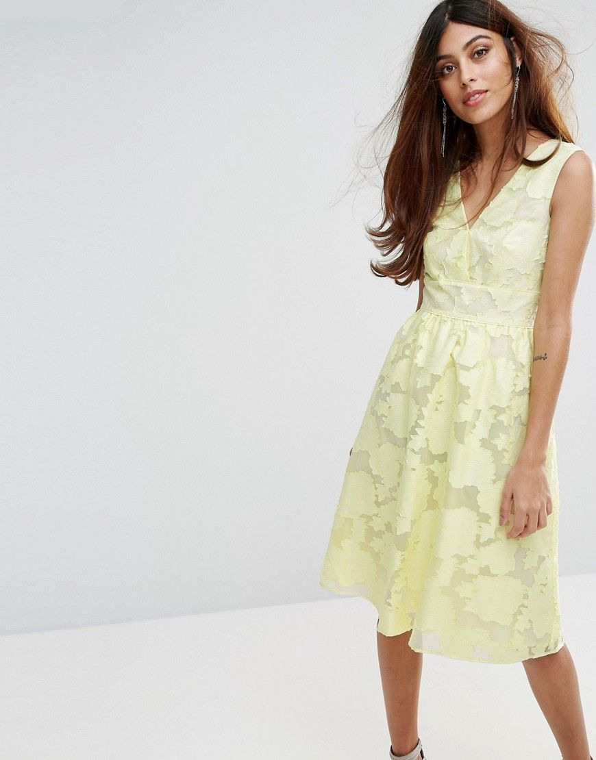 Warehouse Premium Organza Prom Dress  Yellow  Gelbe