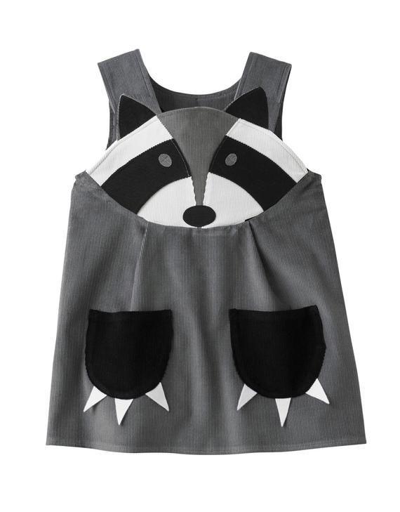 Waschbär Mädchen Schnur Trägerkleid Waschbärkostüm Mit