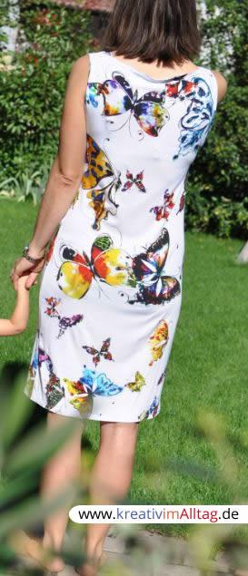 Wasserfallkleid Mit Partnerlookkleid Für Die Kleine