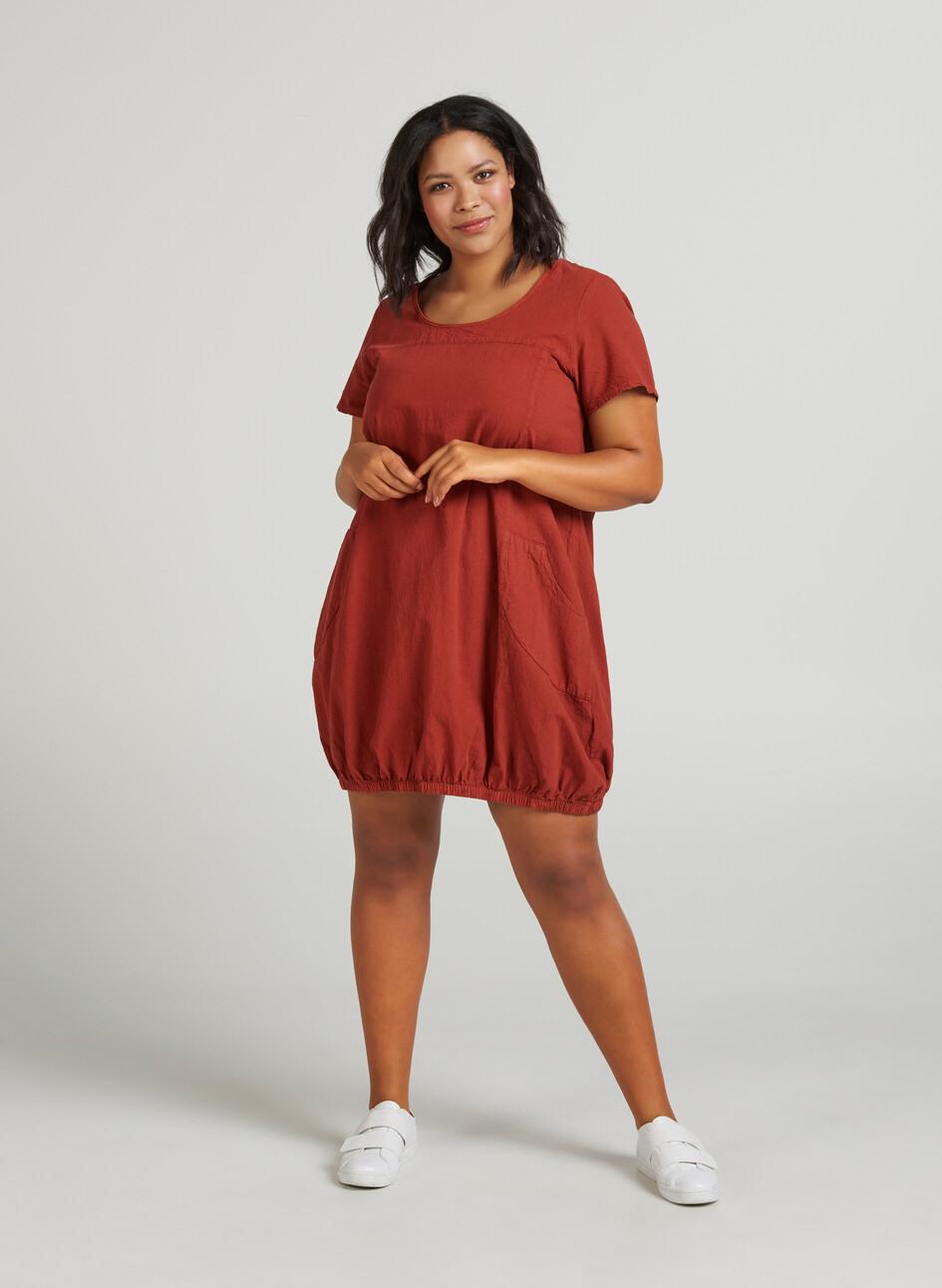 Weiches Kleid  Orange  Str 4256  Zizziat