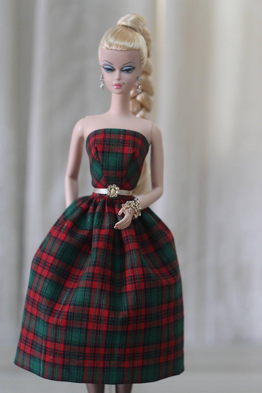 Weihnachten Silkstone Barbie Kleid Urlaub Barbie Kleid
