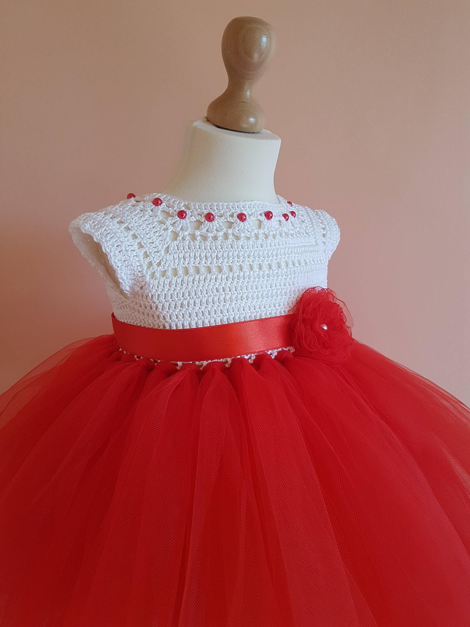Weihnachten Tutu Kleid Rote Tutu Kleid Häkeln Kleid Häkeln