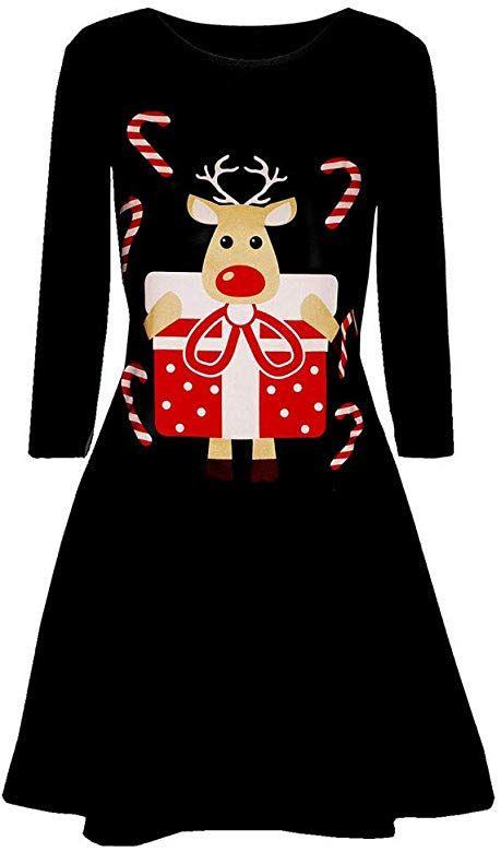 Weihnachtenkleid Damen Elegant Abendkleid Vintage