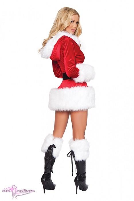 Weihnachtskleid Deluxe  Miss Santa  Kostüme Für