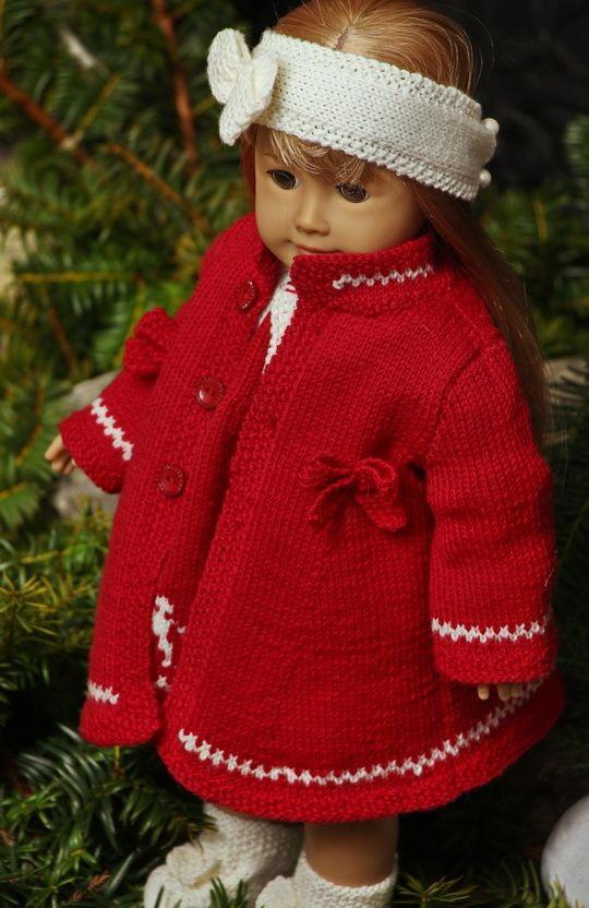 Weihnachtskleider Für Deine Liebe Puppe Stricken