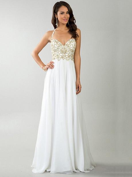 Weiße Abendkleider Lang