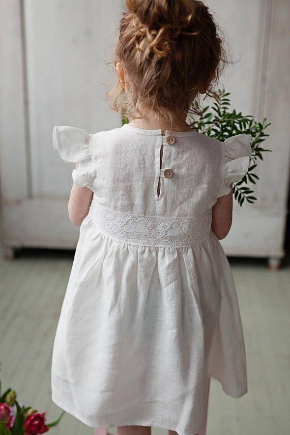 Weiße Blumenmädchen Kleid Weiße Mädchen Kleid Sommer