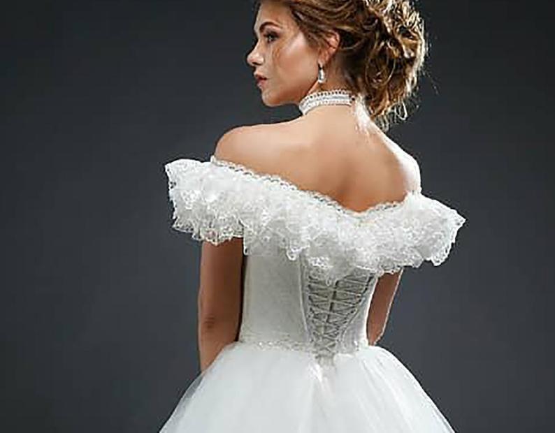 Weiße Korsett Kleid Vintage Inspiriert Hochzeit Braut