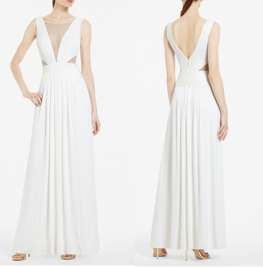 Weiße Lange Kleider Von Bcbg Maxazria