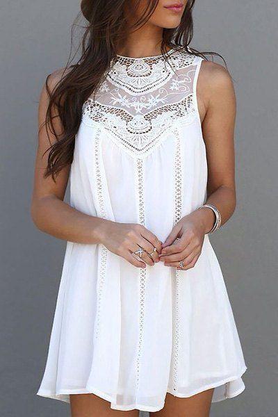 Weiße Luftige Sommerkleider