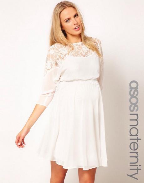 Weiße Umstandskleider