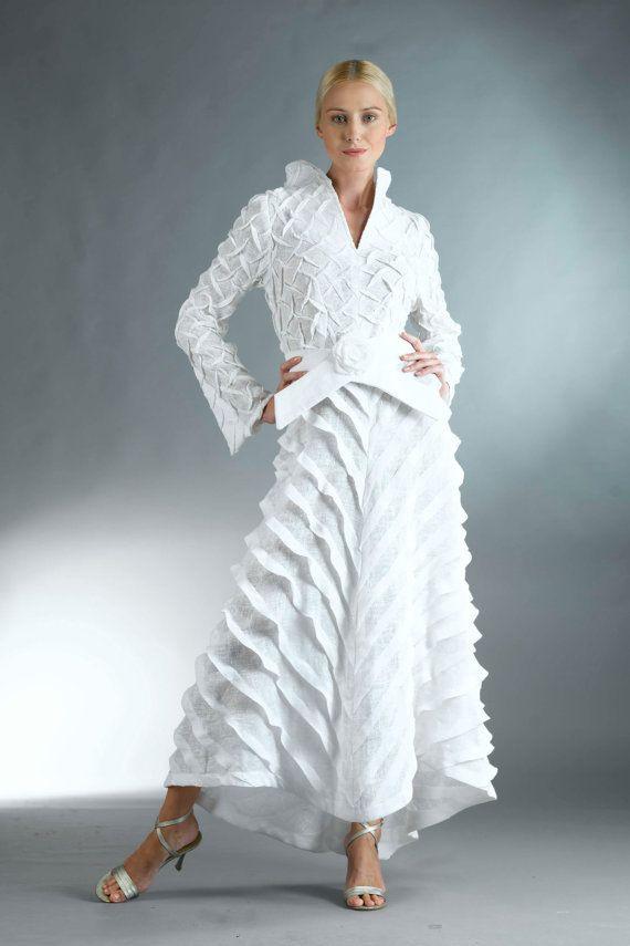Weißem Leinen Kleid / Alle Weißen Kleid Mit Ärmeln