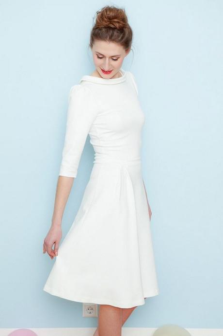 Weißes Cocktailkleid Standesamt