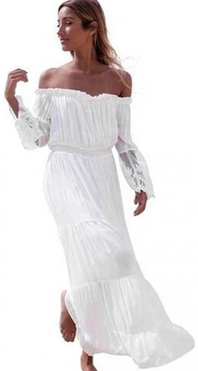 Weißes Kleid Elegant  Abendkleider