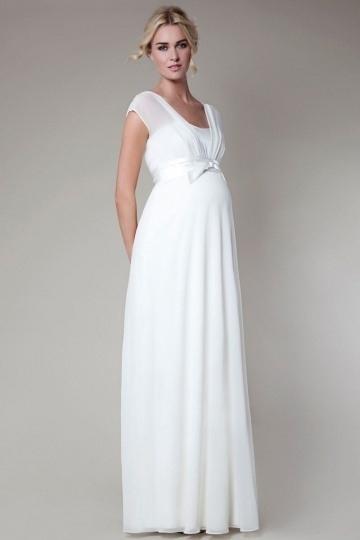 Weißes Kleid Schwanger