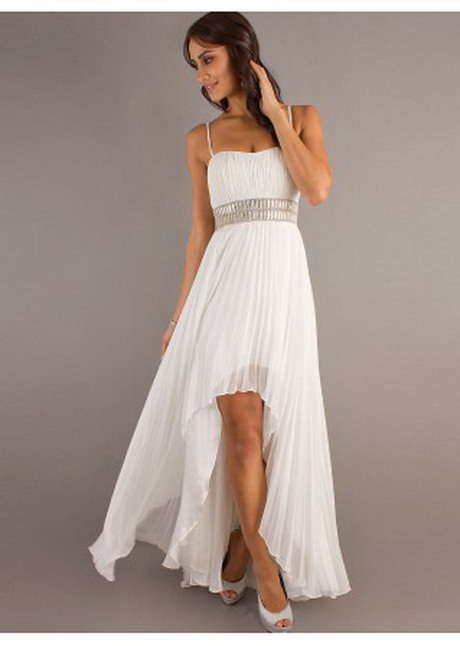 Weißes Kleid Vorne Kurz Hinten Lang