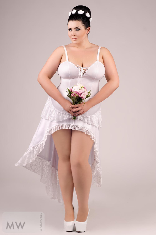 Weißes Langes Kleid E/2020 54/56 Von Andalea Dessous