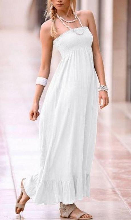 Weißes Maxi Sommerkleid