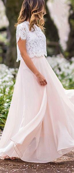 Weißes Maxi Spitzenkleid In 2020  Lange Kleider