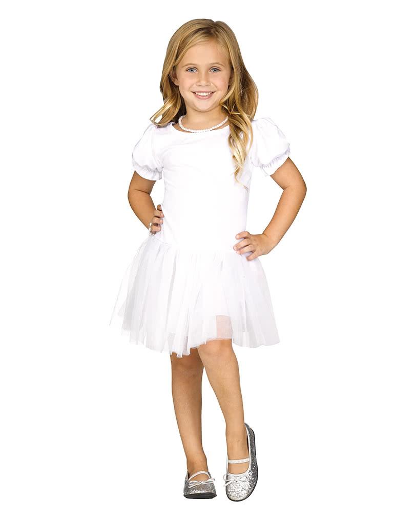 Weißes Petticoatkleid Für Mädchen  Kostümzubehör