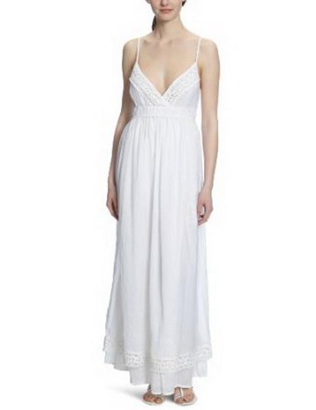 Weißes Sommerkleid Lang