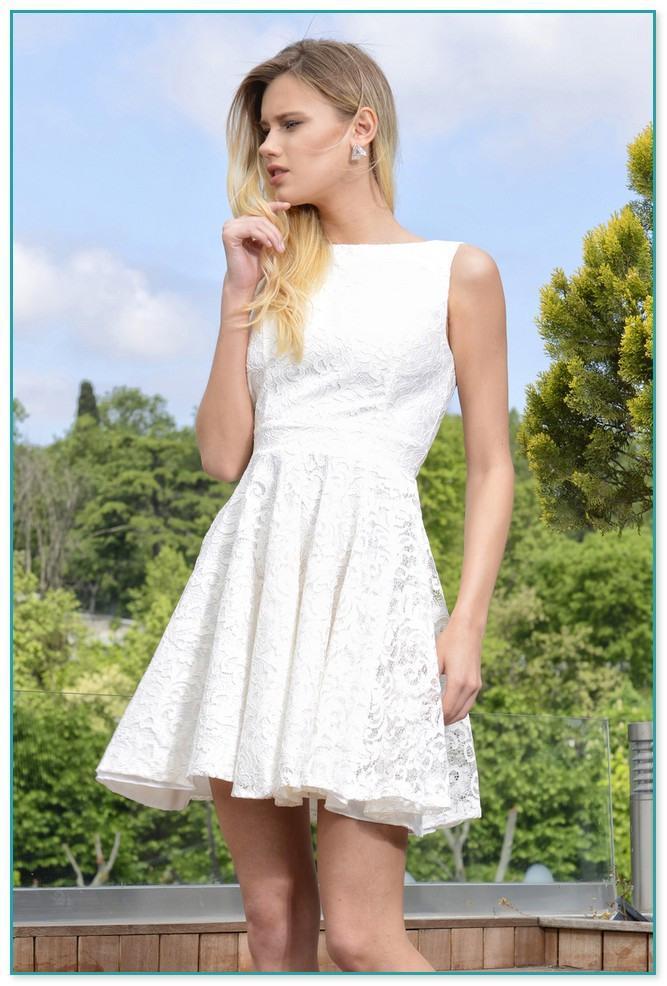 Weißes Sommerkleid Spitze 2