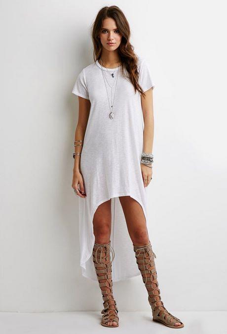 Weißes T Shirt Kleid